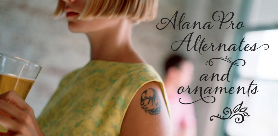 Alana font family from Laura Worthington