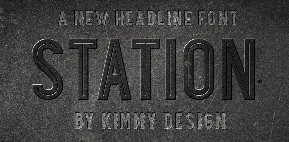 Station font family from Kimmy Design