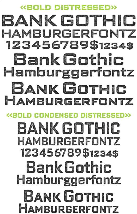 Gothic Bold Condensed Bank Gothic Bold Pro