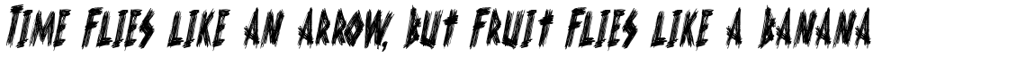 Scurvy Dog Condensed Italic