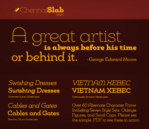 Chennai Slab Family (12 fonts) font from Insigne