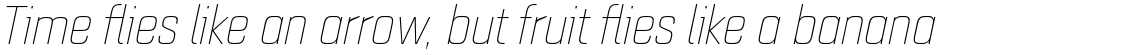 Quarca Normal Thin Italic