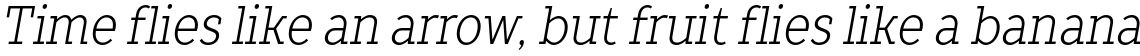 TT Slabs Condensed Light Italic
