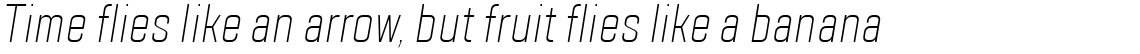 TT Lakes Compressed ExtraLight Italic