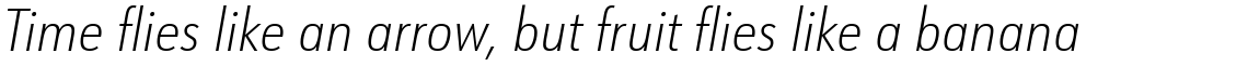 URW Form Condensed ExtraLight Italic