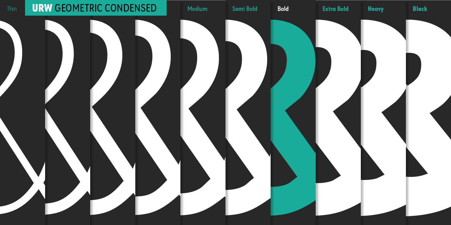 URW Geometric Condensed Family Fonts