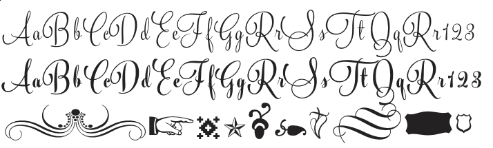 Silver Family 3 fonts