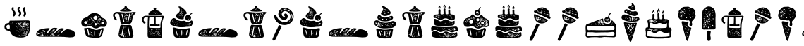 Zing Goodies Bakery Icons Grunge