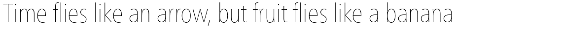 Neue Frutiger Pro Condensed Ultra Light