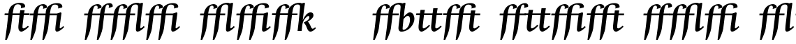 Whitenights Std Bold Italic Ligatures