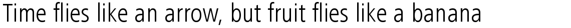 Frutiger Next Com Condensed Light