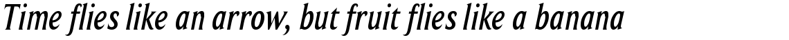 Beaufort Condensed Medium Italic